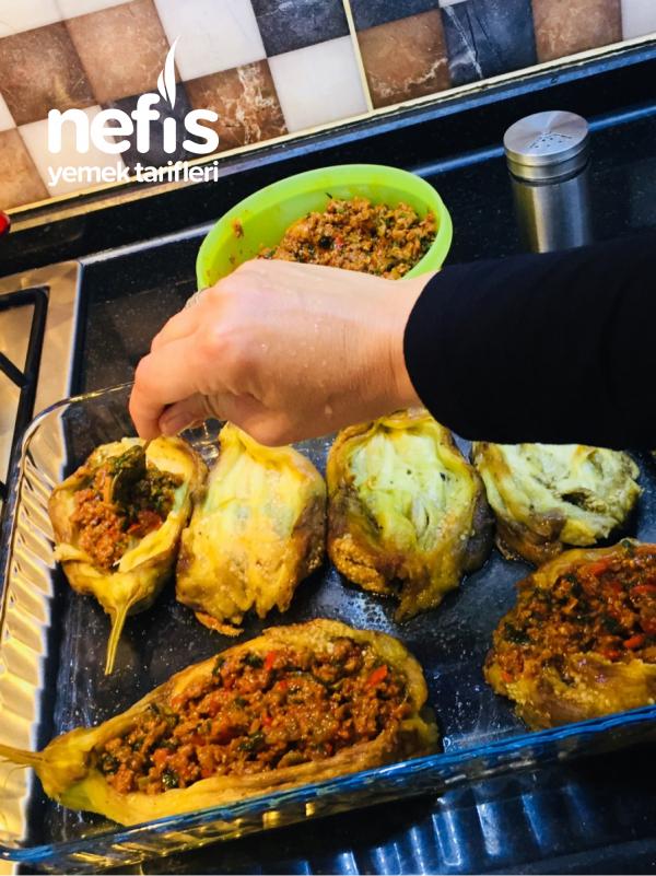 Közlenmiş Patlıcanla Karnıyarık