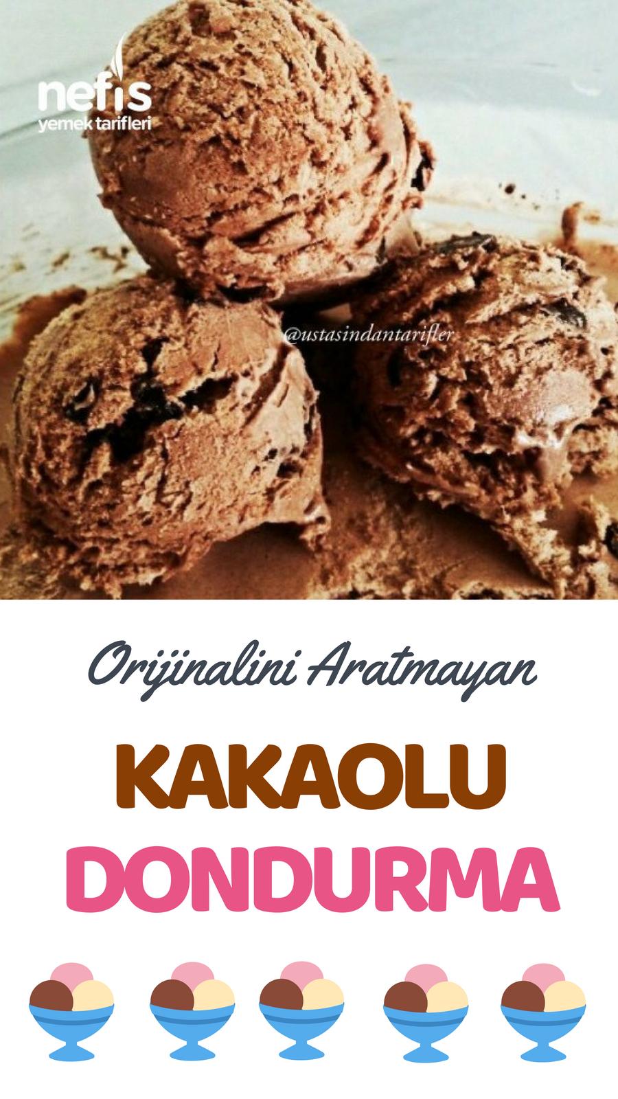 Nefis Kakaolu Dondurma Tarifi