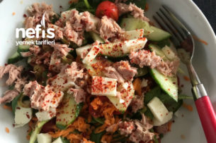 Az Kalorili Doyurucu Salata Tarifi