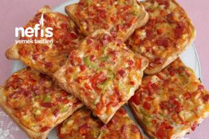 Kahvaltılık Pizza Ekmekleri Tarifi