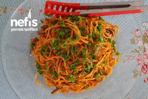 Mantarlı Kremalı Spagetti Tarifi