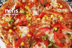 Ton Balıklı Pizza (Kepekli Un İle) Tarifi
