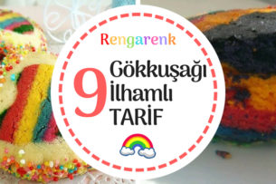 Gökkuşağı Renkleriyle Hazırlanmış 9 Değişik Tarif Tarifi
