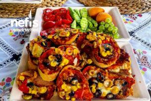 Kahvaltılık Dilim Pizza Ekmekler Tarifi