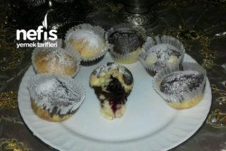 Kiraz Dolgulu Muffin (Harika Bir Lezzet) Tarifi