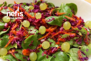 Semiz Otu Salatası ( Üzümlü ) Tarifi