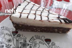 Mozaik Pastalı Yalancı Cheescake Tarifi