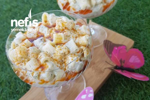 Köz Patlıcanlı Makarna Salatası Tarifi