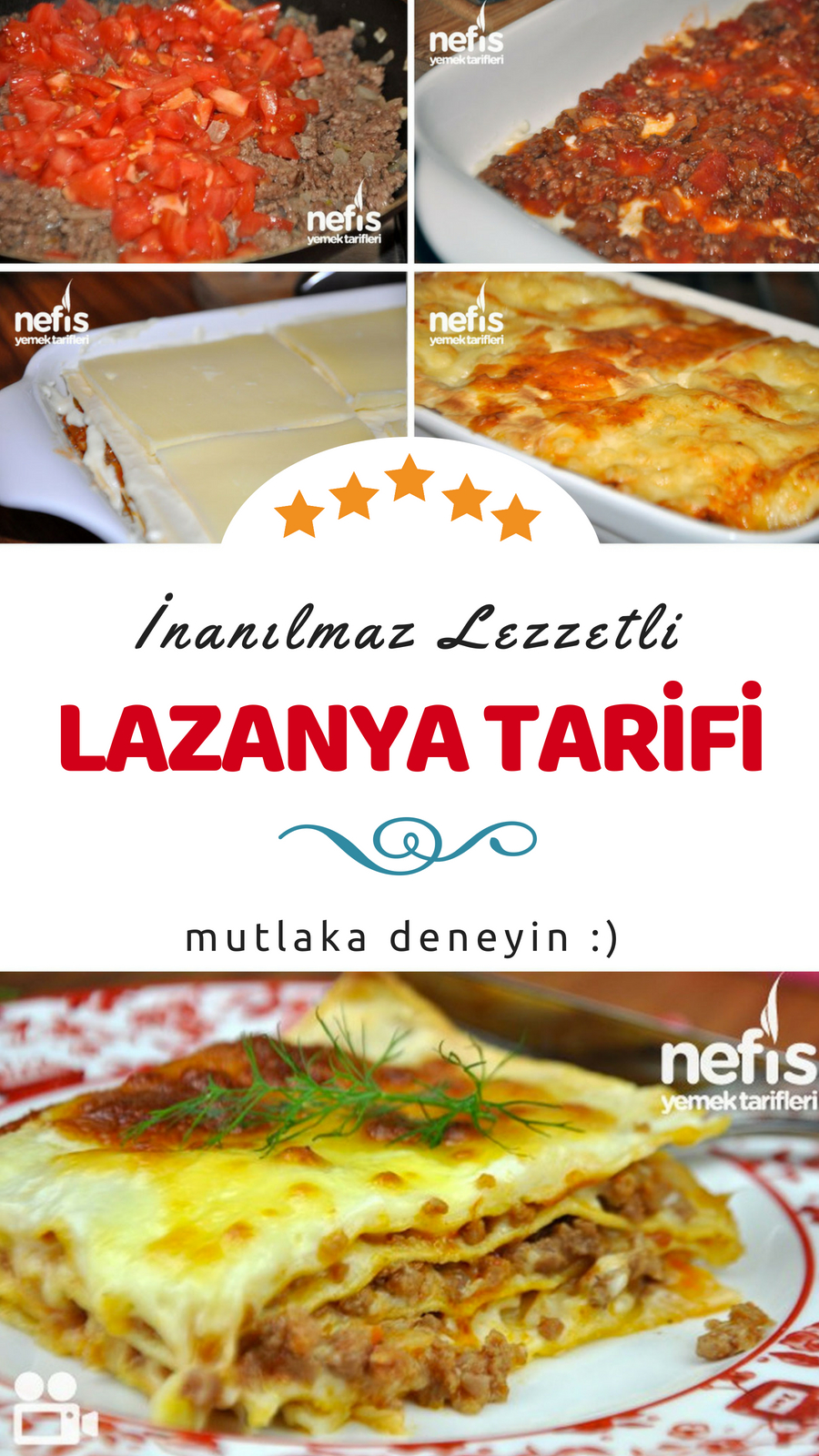 Klasik lazanya tarifi