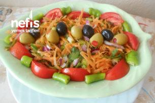 Zeytinli Mor Soğanlı Havuç Salatası Tarifi