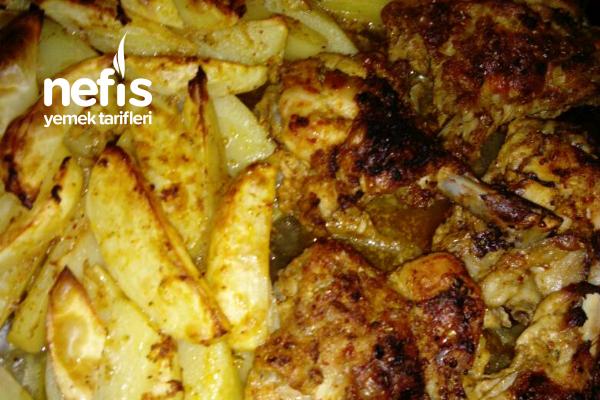 Fırında Soslu Tavuk Patates Tarifi