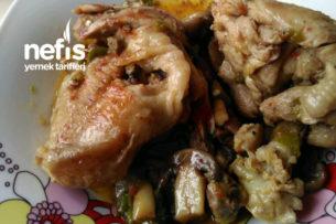 Mantarlı Tavuk Pirzola Tarifi