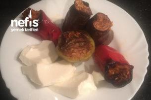 Egenin Muhteşem Fırında Zeytinyağlı Patlıcan/Kırmızı Biber Dolması Tarifi