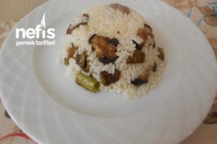 Kabaklı Patlıcanlı Yeşil Biberli Pirinç Pilavı Tarifi