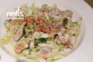 Tavuklu Göbekli Yaz Salatası (Serinleten Lezzet) Tarifi
