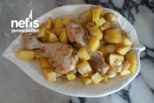 Fırın Poşetinde Patatesli Tavuk But Tarifi
