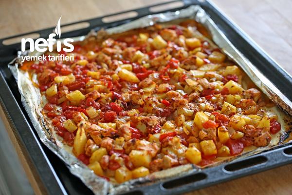 Tavuklu sebze kebabı