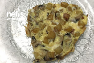 Mantarlı Fırınlanmış Patatesli Omlet (Her Öğün İçin Uyar) Tarifi