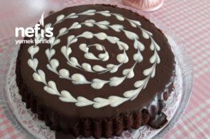 Ganajlı Çikolatalı Tart Kek Tarifi