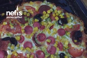 Hamursuz Pratik Pizza Tarifi