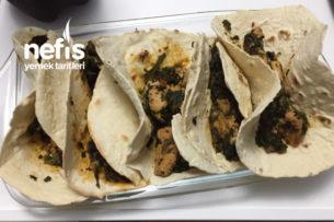 Elde Açma Ispanaklı Tavuklu Türk Taco Tarifi
