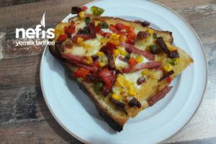 Pratik Bayat Ekmek Pizzası Tarifi