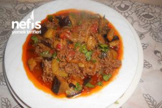 Rendelemiş Patetesli Kıymalı Doğrama Patlıcan Yemeği Tarifi