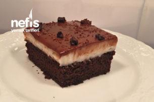 Aşırı Hafif Yedikçe Yedirten Çikolatalı Pasta (Borcamda) Tarifi