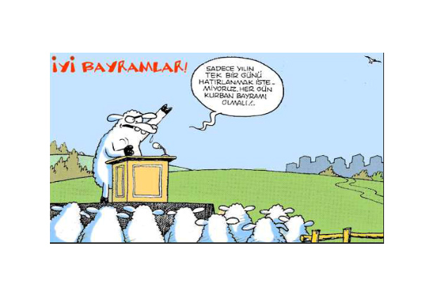 kurban karikatürleri