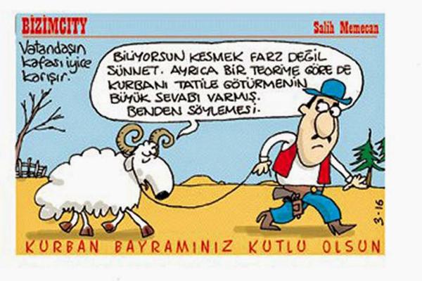 kurban bayramı karikatür