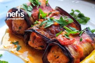 Köfteli Patlıcan Sarma (Tavuk Köfte) Tarifi