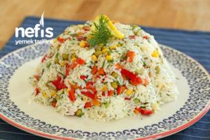 En sevdiğim tariflerimden Pirinç Salatası (videolu) Tarifi