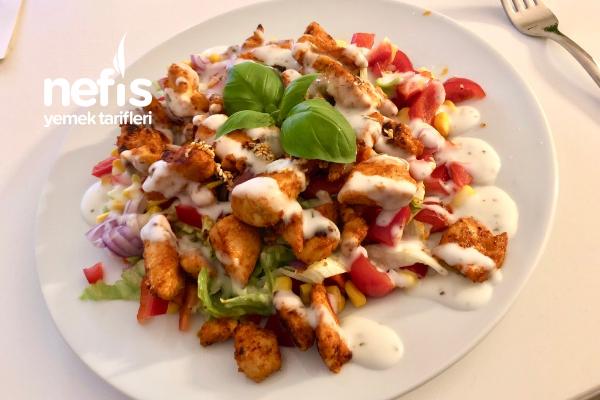 Tavuklu Salata (Fitnes Salatası) Tarifi
