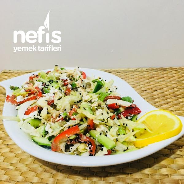 Kilo Vermeye Yardımcı Doyurucu Salata (lorlu Mercimekli )