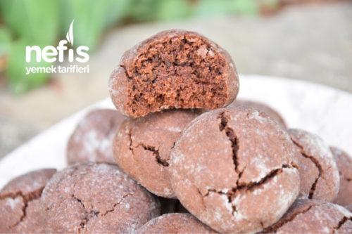 Çikolatalı Nefis Çatlak Kurabiye (Yapım Aşamalı) Tarifi