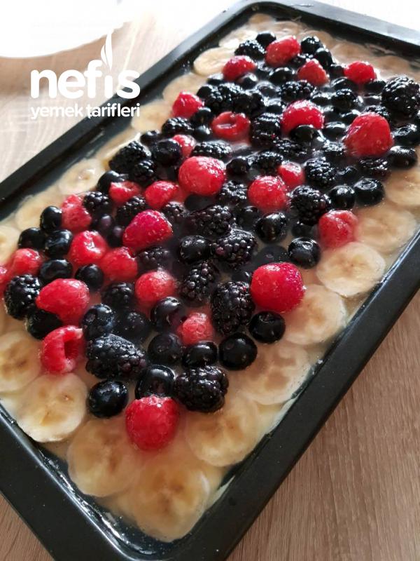 Yumuşacık Hafıf Yaz Pastası (Istediğin Meyveli, Çok Kolay