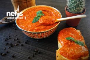 Köz Patlıcanlı Kırmızı Biberli Sos (Efsane Lezzet) Tarifi