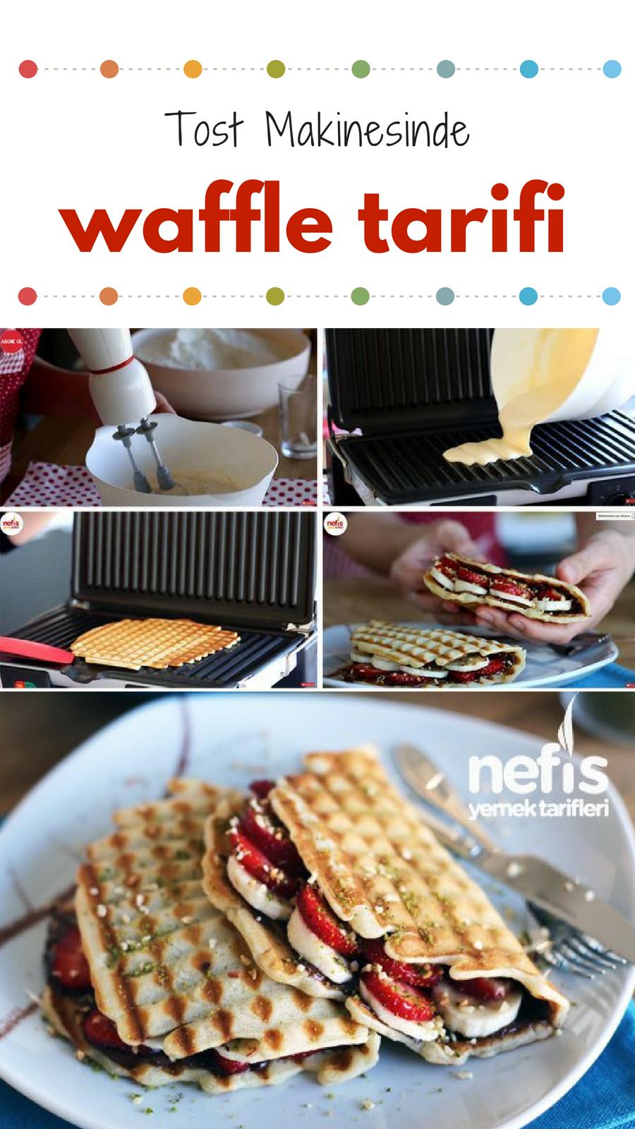 Tost makinesinde kolay waffle tarifi