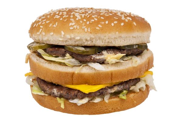 mcdonalds hamburger kaç kalori