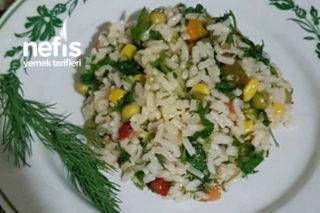 Sebzeli Dereotlu Pilav (Pirinç Salatası) Tarifi