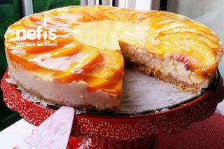 Pişmeyen Şeftalili Cheesecake Tarifi