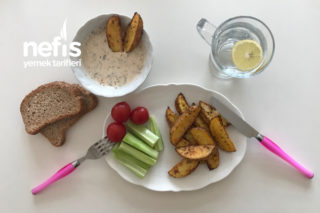 Fırında Elma Dilim Patates (Kahvaltı İçin) Tarifi