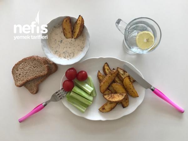 Kahvaltı / Fırında Elma Dilim Patates