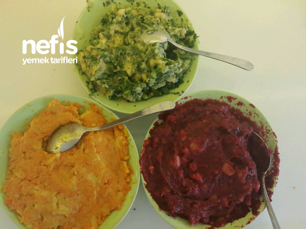 3 Renkli Patates Salatası (gökkuşağı Patates Salatası)
