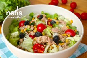 Ton Balıklı En Kolay ve Lezzetli Salata (videolu) Tarifi