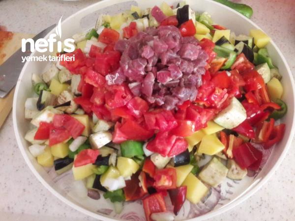 Firin Poşetinde Sebze Kebabi(acele Misafir Yemegi)