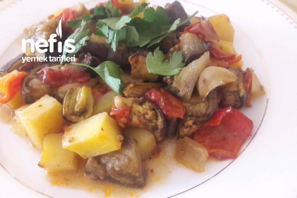 Fırın Poşetinde Sebze Kebabı (Acele Misafir Yemeği) Tarifi