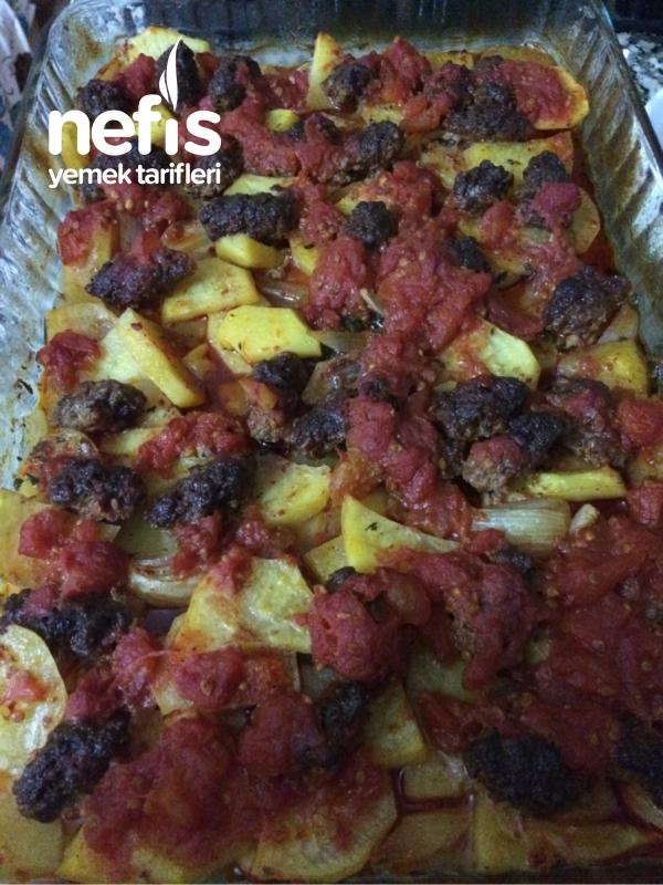 Fırında Köfteli Patates