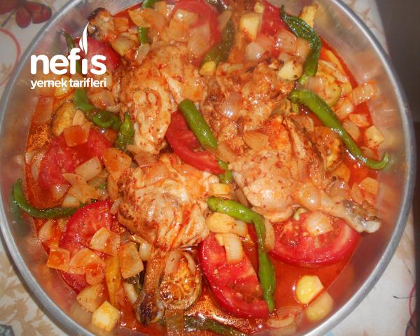 Fırında Sebzeli Tavuk Pirzola