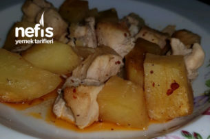 Sarımsak Soslu Enfes Tavuklu Patates (Arap Usulü) Tarifi